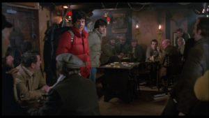 David and Jack enter a pub where the locals cast them a cautious eye