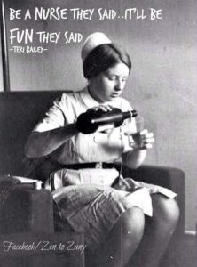 Photo of a nurse pouring herself a stiff drink for When Patients Attack