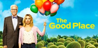 Logo for The Good Place with Ted Danson and Kristen Bell