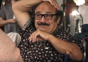 "Danny DeVito in Milos Forman's ""Man in the Moon"""
