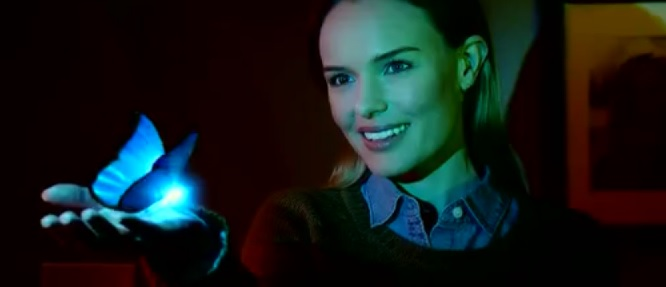 Kate Bosworth and a CGI butterfly.
