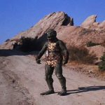 The Gorn From STAR TREK TOS Stands Waiting At Vasquez Rocks