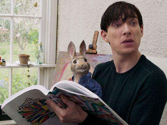 Domnhall Gleeson and Peter Rabbit