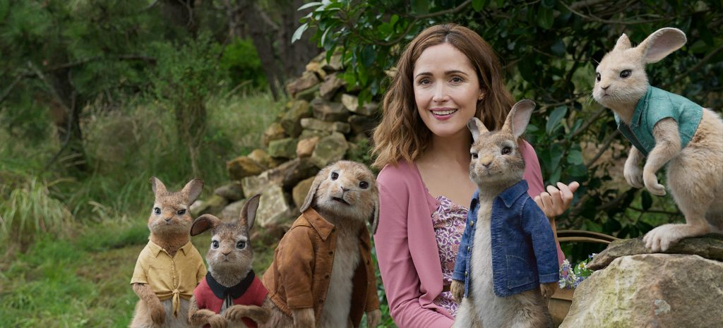 Rose Byrne and Peter Rabbit