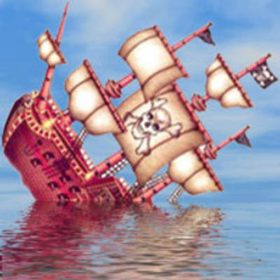 Sinking pirate ship