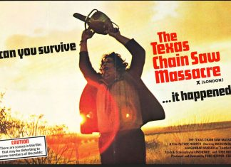 Promo sheet for The Texas Chainsaw Massacre