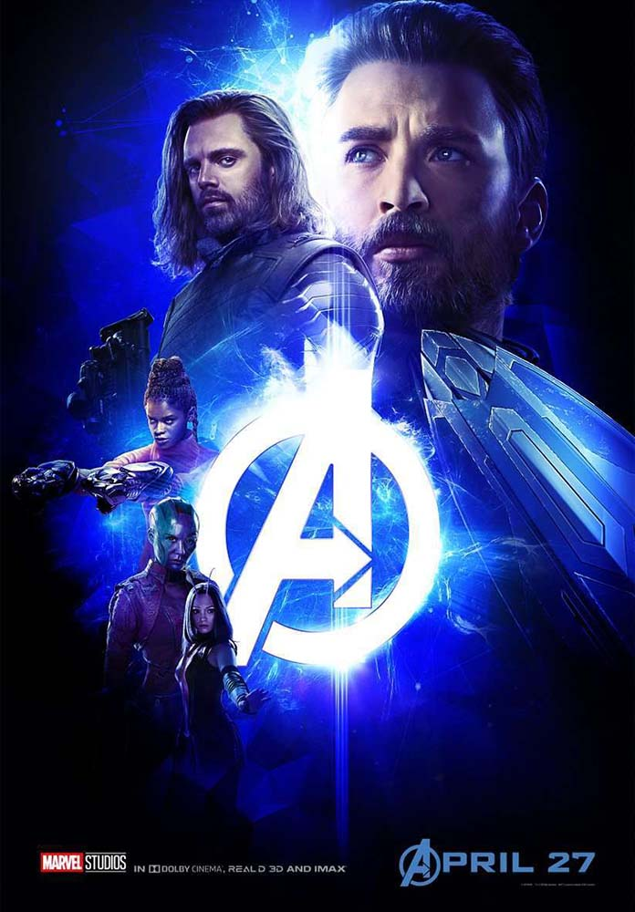 Infinity War Blue Poster Captain America Bucky