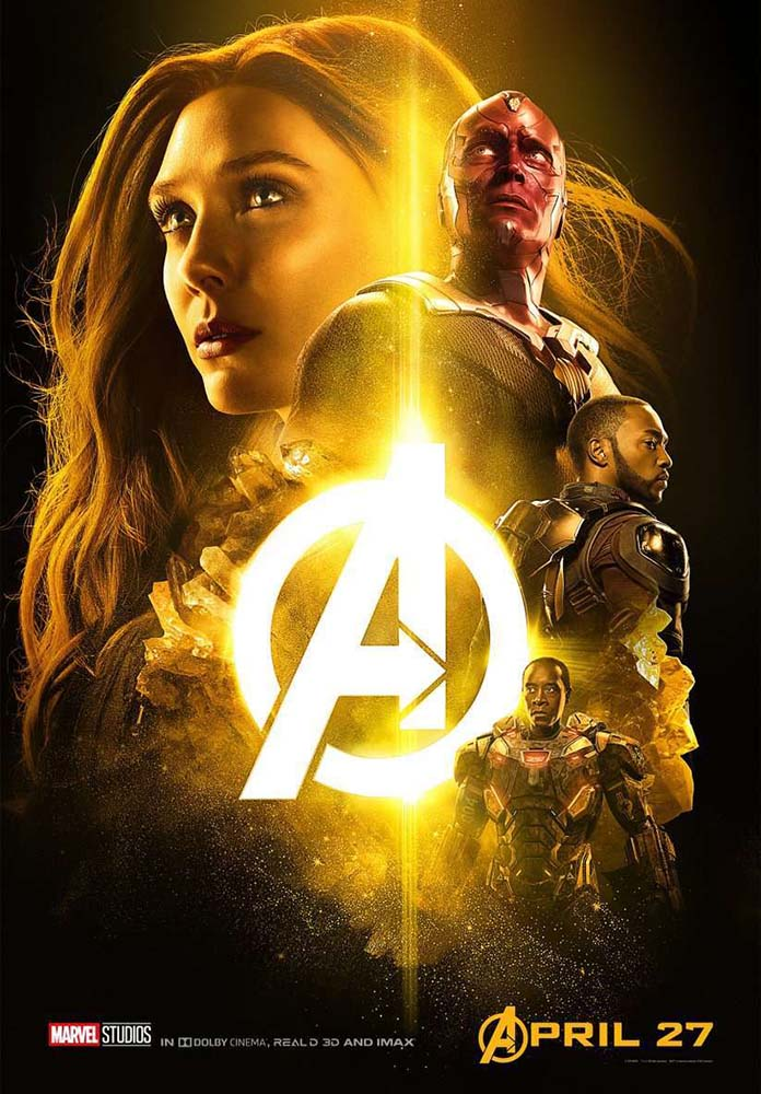 Infinity War Poster Vison Paul Bettany Mind Stone Scarlet Witch