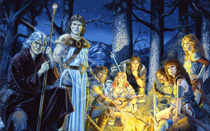 The DRAGONLANCE Companions Around A Night Fire