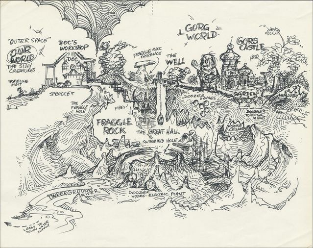 Map of Fraggle Rock