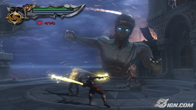 Gameplay from God of War 2