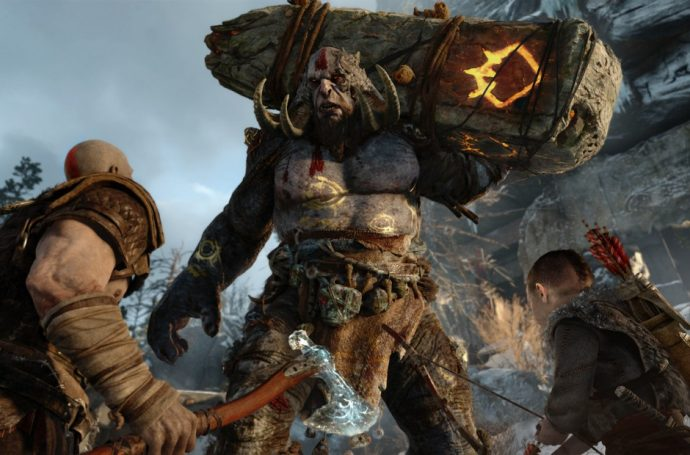 Gameplay from God of War PS4