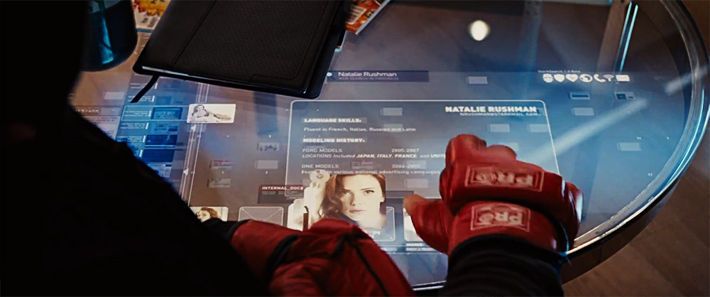 Smart Coffee Table Screen from Iron Man 2