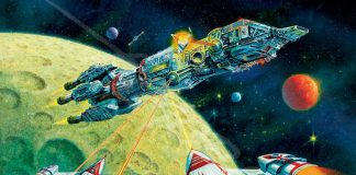 Fighter Ships Attack A Cruiser In STAR FRONTIERS