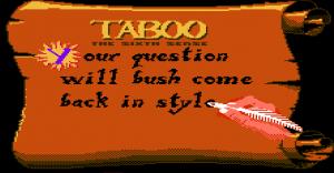 Taboo game 3