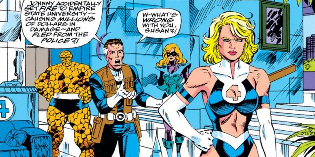 Sue Storm Half-Naked in Fantastic Four Comics