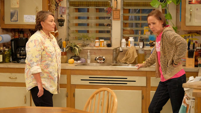 Roseanne and Jackie fight over Trump and Hillary on Roseanne Revival