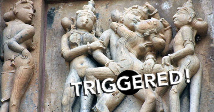 Khajuraho Temples in Indian Depicted Lots of Intercourse