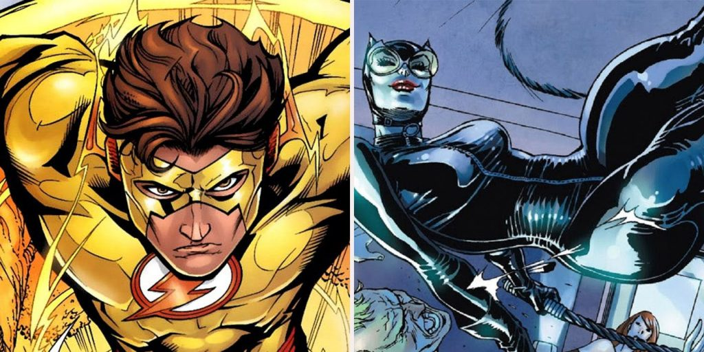 Kid Flash and Cat Woman