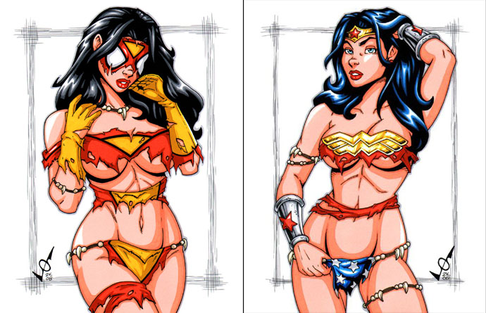 Savage Land Spider Woman and Wonder Woman