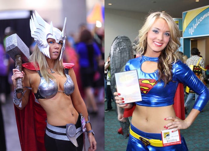 Sexy Super Hero Cosplay At ComicCon