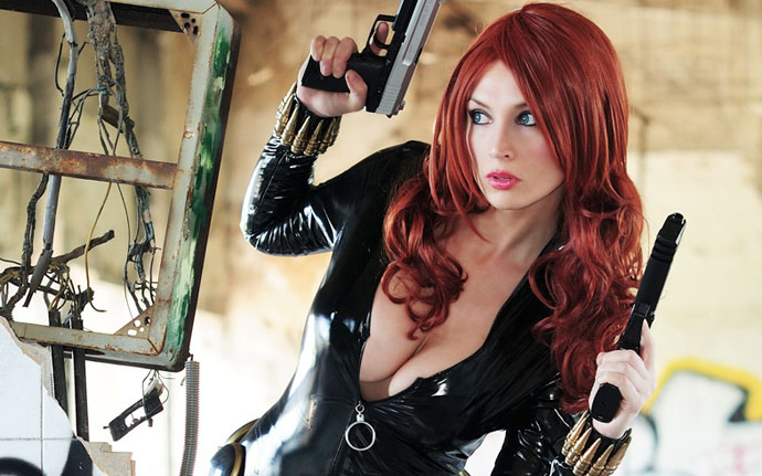 Black Widow Shows Cleavage