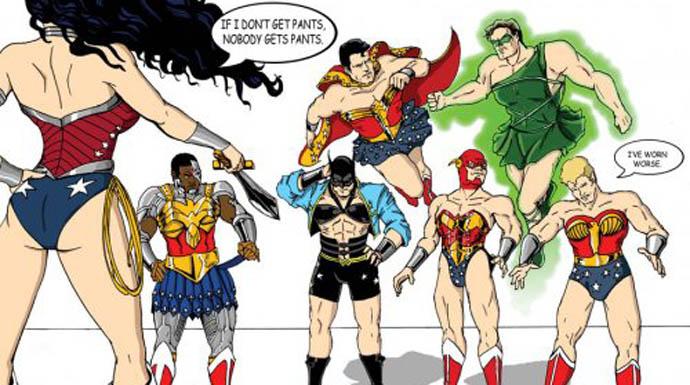 Super Men Depicted Like Women