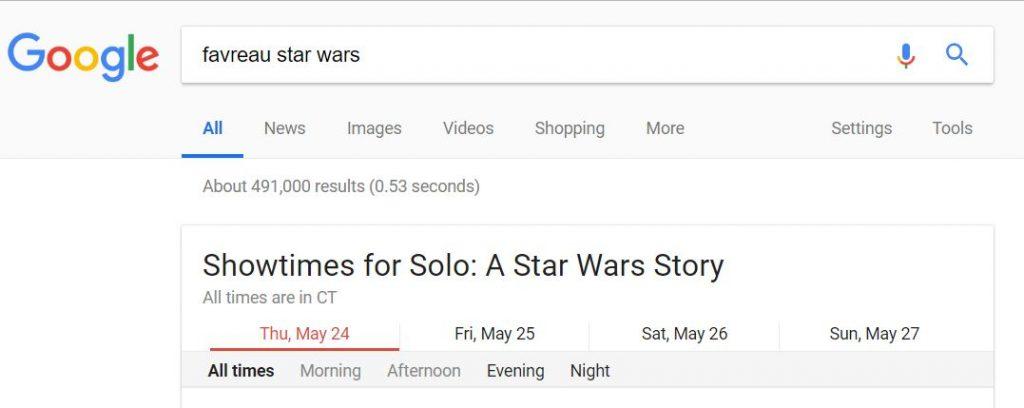 Google search Star Wars
