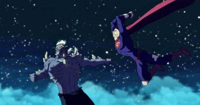 Death of Superman animated cartoon