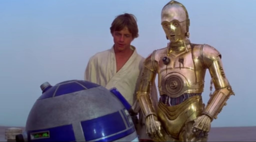 Luke Skywalker meets R2-D2