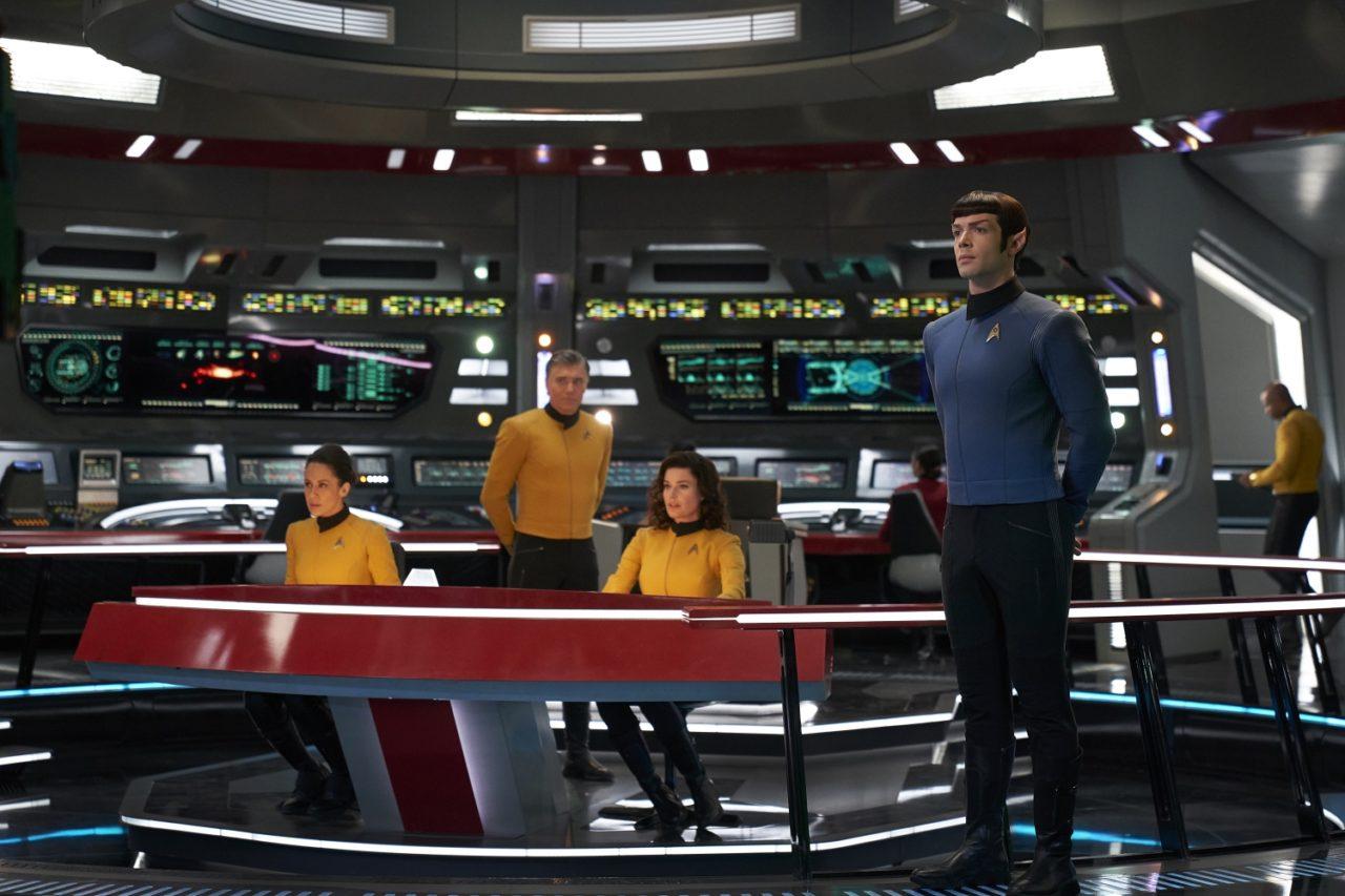 Resultado de imagem para enterprise bridge captain pike spock