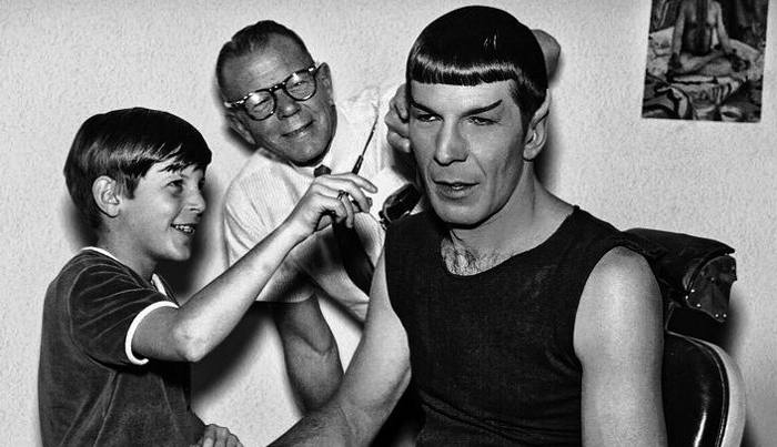 Leonard and Adam Nimoy