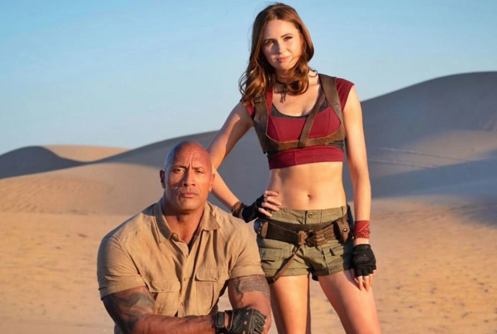 The Rock smolders while Amy Pond is dressed for desert travel.