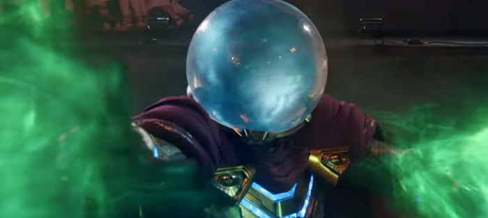 Mysterio shoots some green shit.