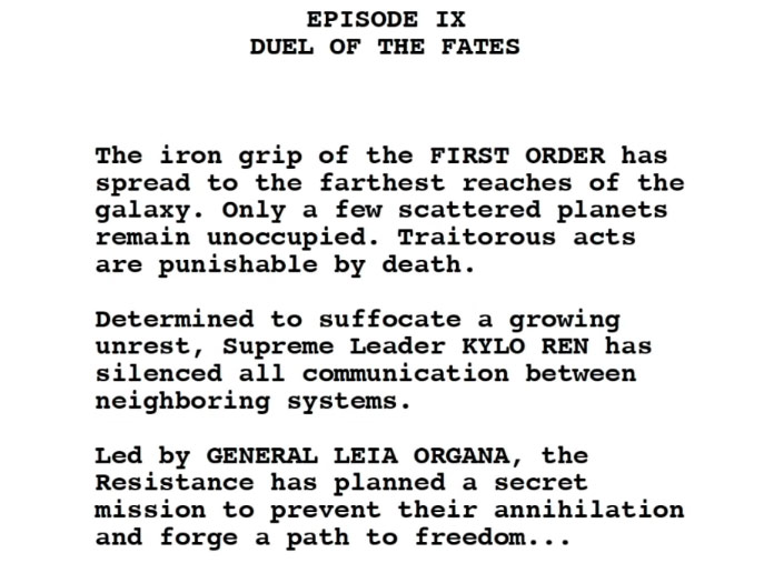 Revenge Of The Sith Script